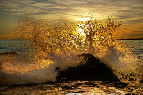 Frozen Wave at Sunset