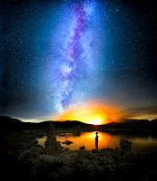 Mono Lake Milky Way Forest Fire